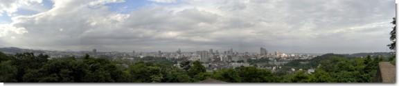 仙台城址からの眺望