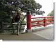 朝陽橋にて