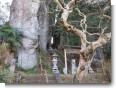 大谷石と神社